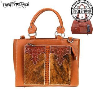 Trinity Ranch Hair-On Leather  Satchel/Crossbody